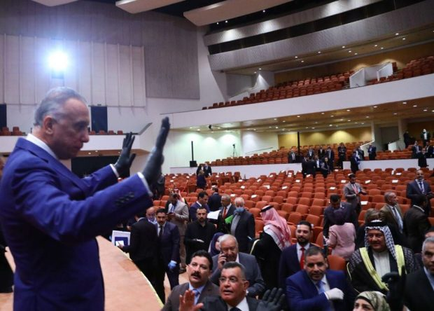 Iraq's newly-appointed Prime Minister Mustafa Al Kadhimi (PM's media office)