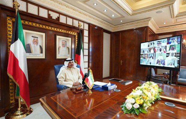Prime Minister Shaikh Sabah Al Khaled chairs Cabinet virtual meeting (KUNA)