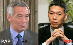 Left: PM Lee Hsien Loong | Right: Mr Lee Hsien Yang (https://www.iresimply81.com)