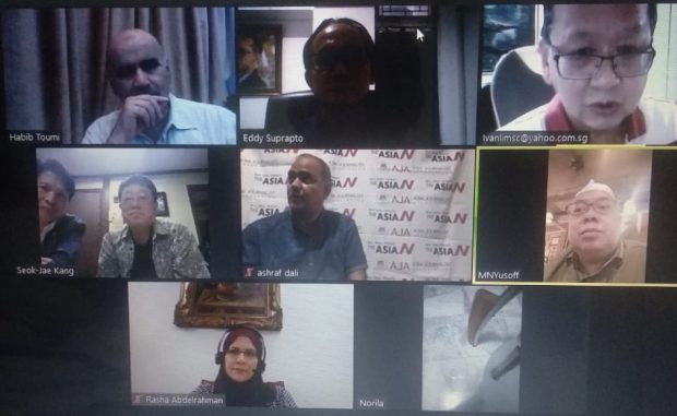 AJA holding its second ZOOM meeting (Ashraf)