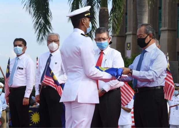 Malaysia's Prime Minister Muhyiddin Yassin launched the National Month Celebration and Jalur Gemilang Kibar Campaign (PM Office)