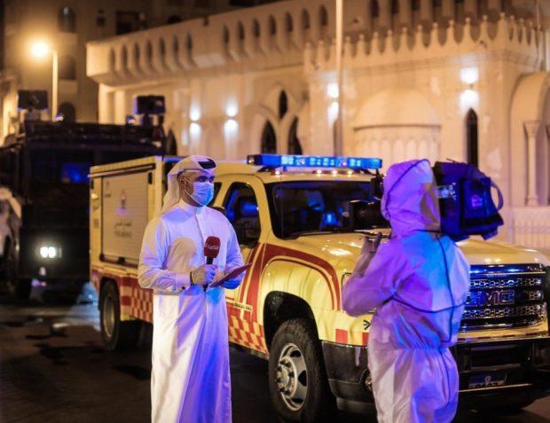 Bahrain Television  journalist Yahya Al Omari on a COVID-19  assignment