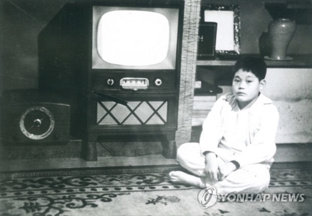 Lee Kun-hee in his childhood (Yonhap)