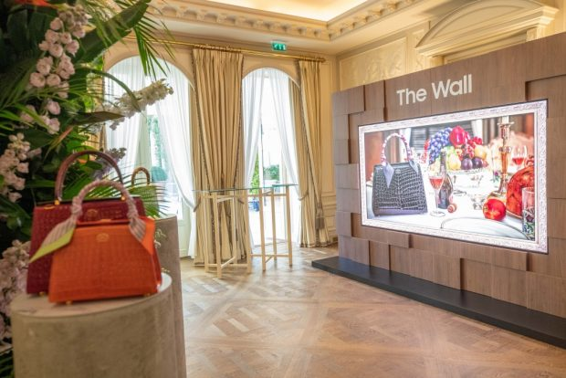 Samsung showcases its latest technology 'The Wall Luxury' during Paris Fashion Week and the Monaco Yacht Show, two events that have a significant role in establishing cultural trends and style innovations in design, fashion, lifestyle, and beyond (Samsung)