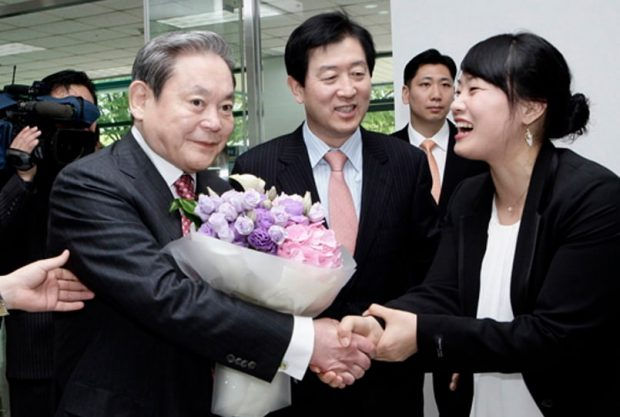 Samsung Chairman Lee Kun-hee in 2010