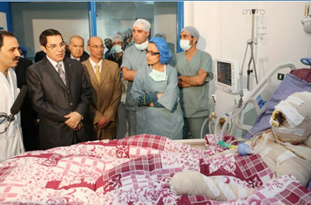 Face to Face: Ben Ali visiting Bouazizi in the hospital