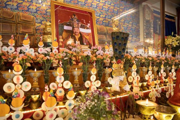 Chockling Rinpoche Spirit in Canning Shedrubling Monastery, where the body is kept