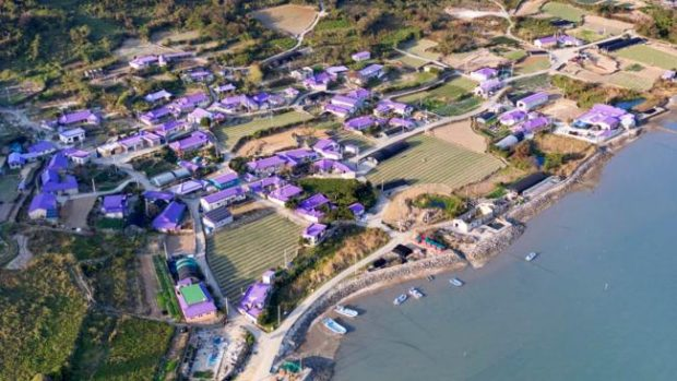 Banwol Island: This island off the coast of western South Korea came up with a way to revitalize the economy: become an Instagram attraction by going all in on the color purple (Shinan County Office)