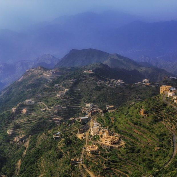 Faifa Mountains in southern Saudi Arabia