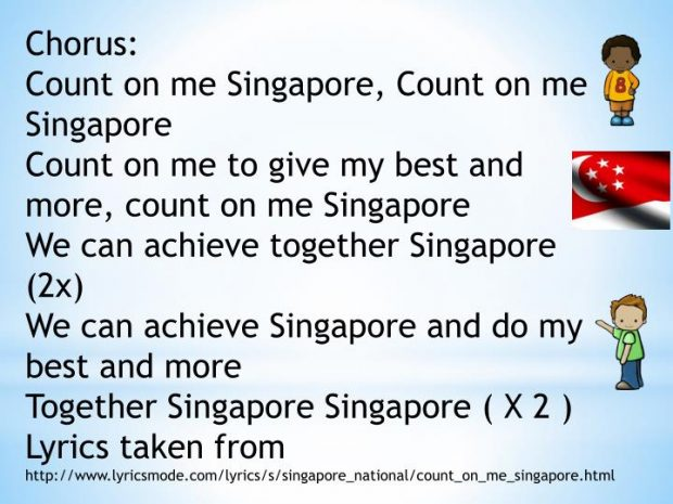 Count on Me, Singapore 4/4