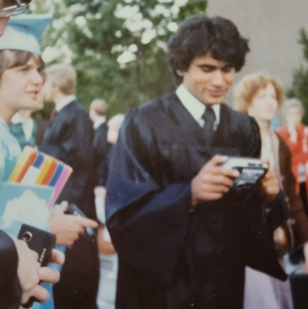 Habib Toumi during a graduation ceremony (Picture by Kate Johnson Santhuff)