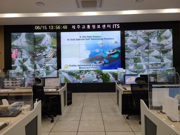 The traffic information center of Jeju Municipal Police Bureau. (Yonhap)