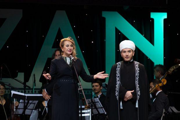 Minister of Culture of the Republic of Tatarstan Irada Ayupova and First Deputy Mufti of the Republic of Tatarstan Ilfar Khazrat Khasanov