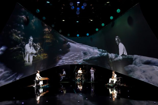 Telematic hologramic performance vital signs connecting Korea and New York Through Seoul Arts Culture Hub